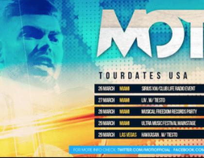 MOTI – Debut Australia / Asia bookings (Musical Madness Tiesto's Label) OCTOBER 1 – 18
