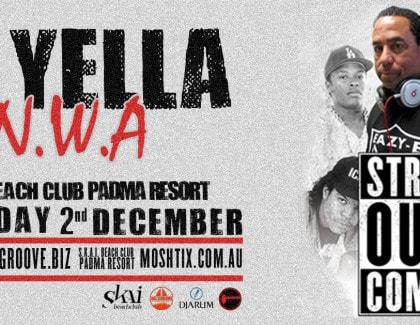 DJ YELLA (N.W.A) AT S.K.A.I. BEACH CLUB BALI